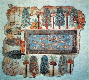 A fresco from the Tomb of Nebamun, Thebes, 18th Dynasty