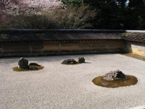 Dry garden in Koyoto, Japan April 2004 by Stephane D'Alu